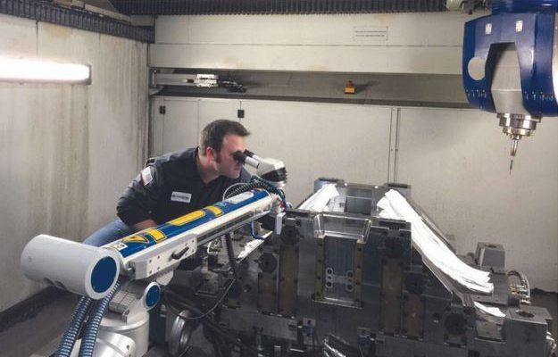 Pulsed Laser Welding Speeds Mold Repair